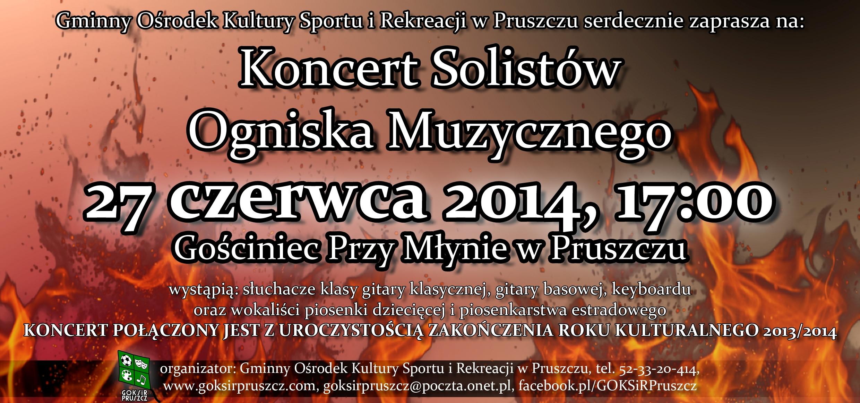 Koncert Solistów Ogniska Muzycznego - zaproszenie